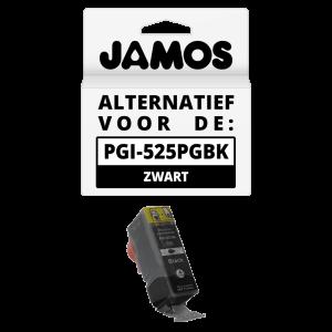 JAMOS Inktcartridge Alternatief voor de Canon PGI-525PGBK Zwart