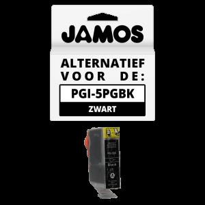 JAMOS Inktcartridge Alternatief voor de Canon PGI-5PGBK Zwart