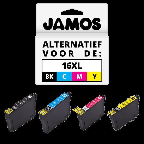 JAMOS Inktcartridges Alternatief voor de Epson 16XL Voordeelset