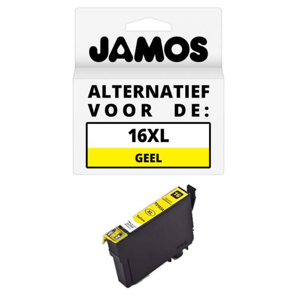JAMOS Inktcartridge Alternatief voor de Epson 16XL Geel T1634