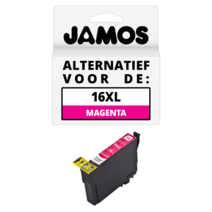 JAMOS Inktcartridge Alternatief voor de Epson 16XL Magenta T1633