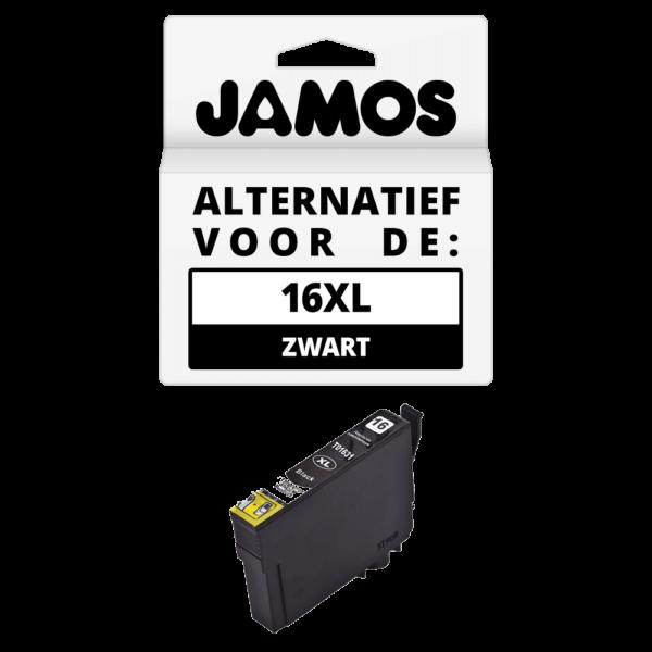JAMOS Inktcartridge Alternatief voor de Epson 16XL Zwart T1631