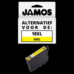 JAMOS Inktcartridge Alternatief voor de Epson 18XL Geel T1814