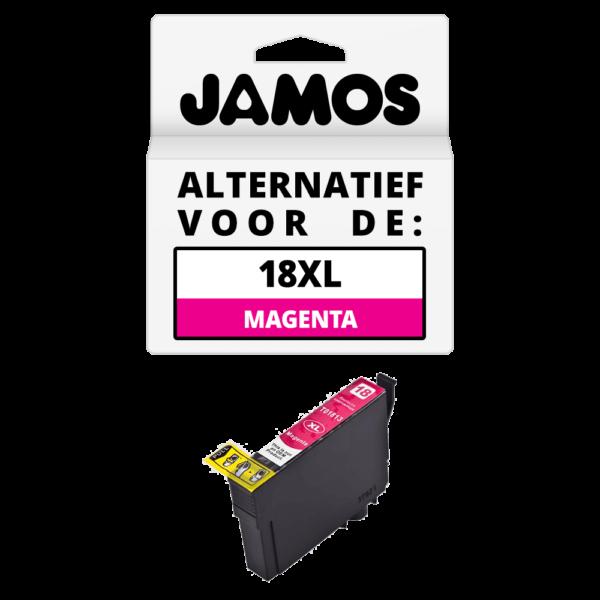 JAMOS Inktcartridge Alternatief voor de Epson 18XL Magenta T1813