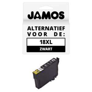 JAMOS Inktcartridge Alternatief voor de Epson 18XL Zwart T1811