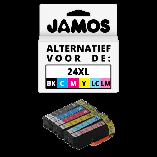 JAMOS Inktcartridge Alternatief voor de Epson 24XL Voordeelset