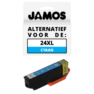 JAMOS Inktcartridge Alternatief voor de Epson 24XL Cyaan T2432