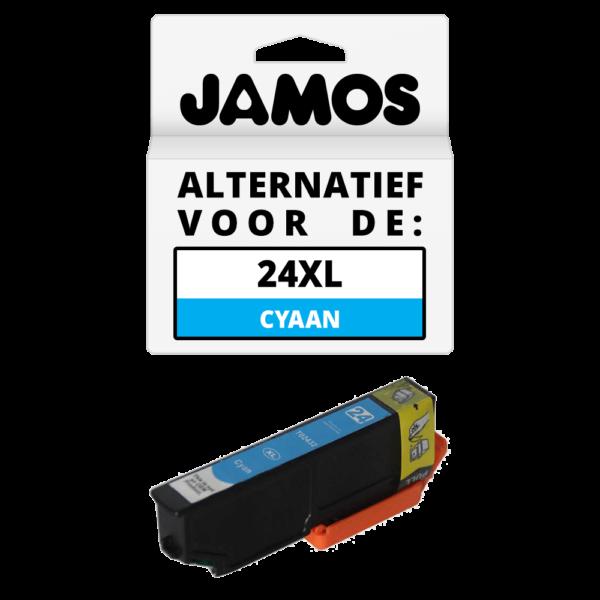 JAMOS Inktcartridge Alternatief voor de Epson 24XL Cyaan T2432