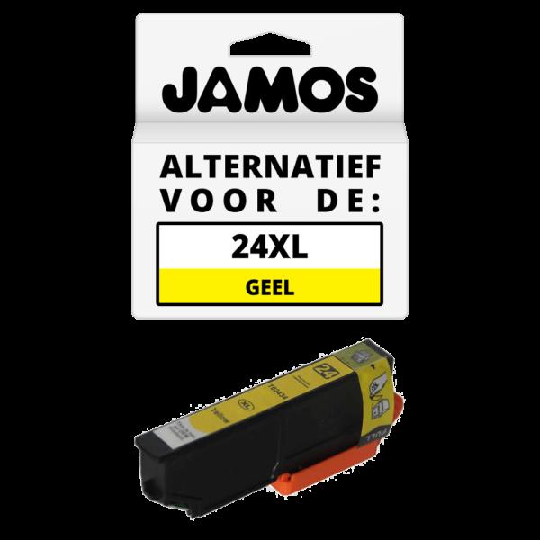 JAMOS Inktcartridge Alternatief voor de Epson 24XL Geel T2434