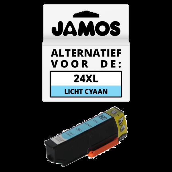 JAMOS Inktcartridge Alternatief voor de Epson 24XL Licht Cyaan T2435