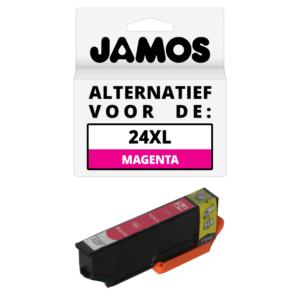 JAMOS Inktcartridge Alternatief voor de Epson 24XL Magenta T2433