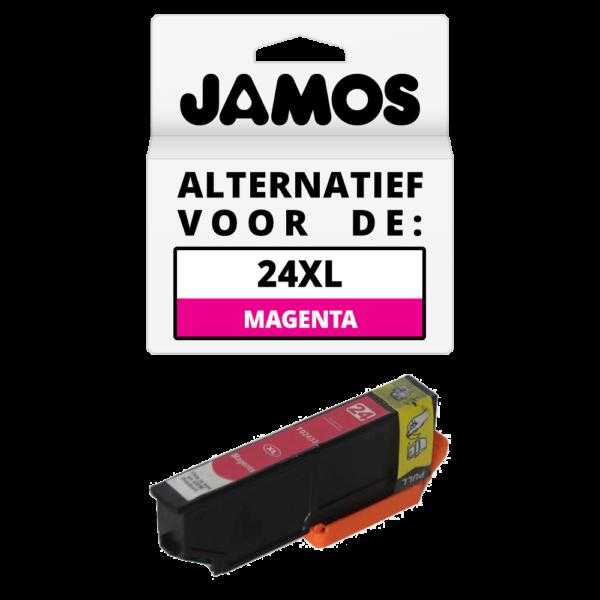 JAMOS Inktcartridge Alternatief voor de Epson 24XL Magenta T2433