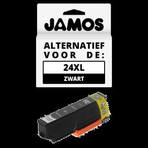 JAMOS Inktcartridge Alternatief voor de Epson 24XL Zwart T2431