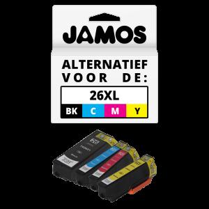 JAMOS Inktcartridge Alternatief voor de Epson 26XL Voordeelset T2636