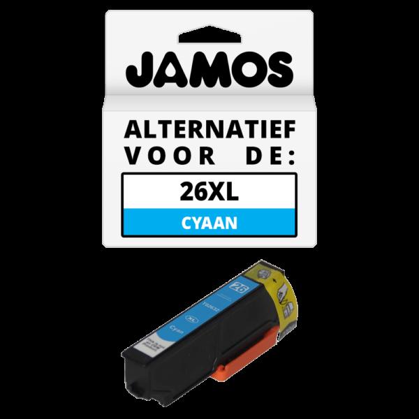 JAMOS Inktcartridge Alternatief voor de Epson 26XL Cyaan T2632