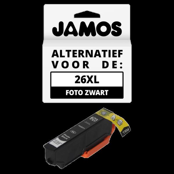 JAMOS Inktcartridge Alternatief voor de Epson 26XL Foto Zwart T2631