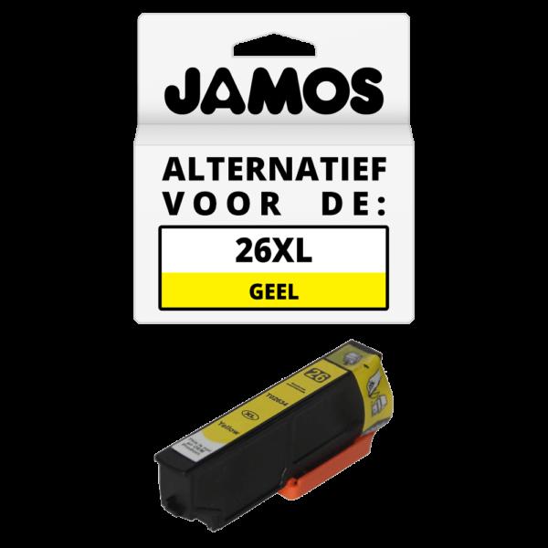JAMOS Inktcartridge Alternatief voor de Epson 26XL Geel T2634