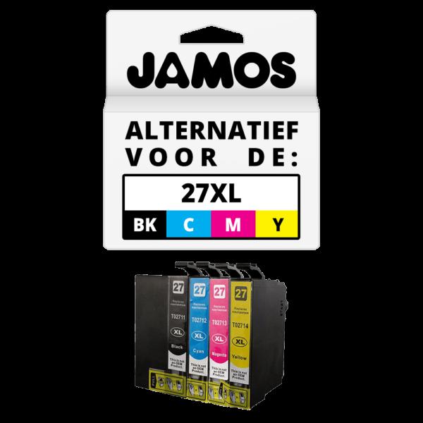 JAMOS Inktcartridge Alternatief voor de Epson 27XL Voordeelset