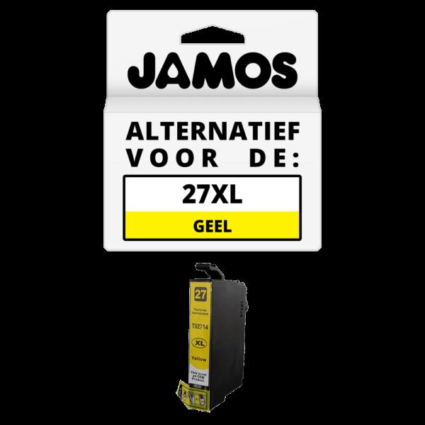JAMOS Inktcartridge Alternatief voor de Epson 27XL Geel T2714