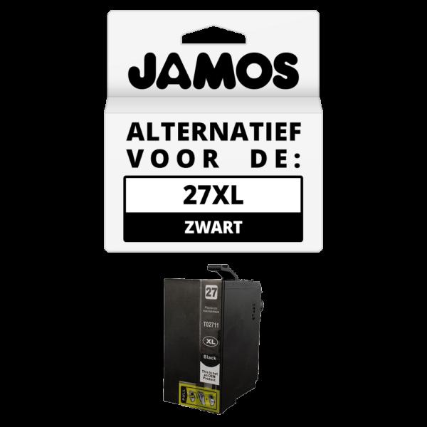 JAMOS Inktcartridge Alternatief voor de Epson 27XL Zwart T2711