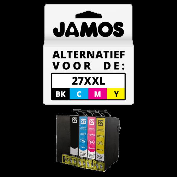 JAMOS Inktcartridge Alternatief voor de Epson 27XXL Voordeelset