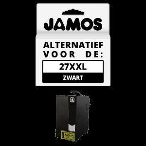 JAMOS Inktcartridge Alternatief voor de Epson 27XXL Zwart T2791