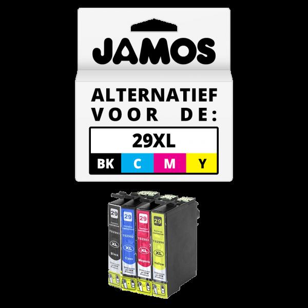 JAMOS Inktcartridge Alternatief voor de Epson 29XL Zwart & Kleuren Voordeelset