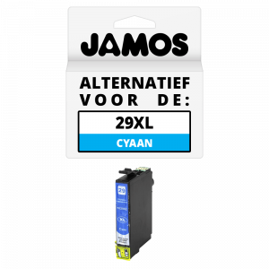 JAMOS Inktcartridge Alternatief voor de Epson 29XL Cyaan T2992