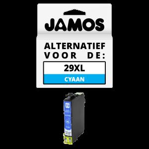 JAMOS Inktcartridge Alternatief voor de Epson 29XL Cyaan T2992
