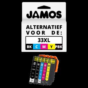 JAMOS Inktcartridge Alternatief voor de Epson 33XL Voordeelset T3357