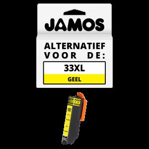 JAMOS Inktcartridge Alternatief voor de Epson 33XL Geel T3364