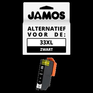 JAMOS Inktcartridge Alternatief voor de Epson 33XL Zwart T3351
