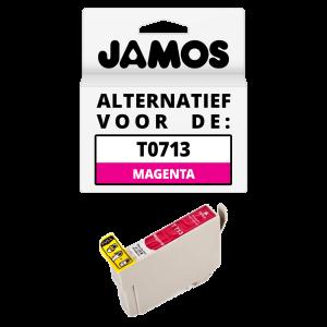 JAMOS Inktcartridge Alternatief voor de Epson T0713 Magenta