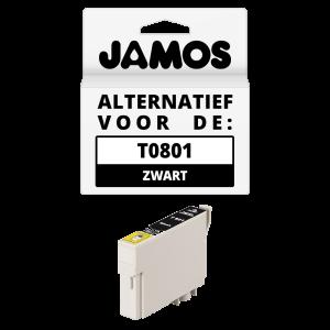 JAMOS Inktcartridge Alternatief voor de Epson T0801 Zwart