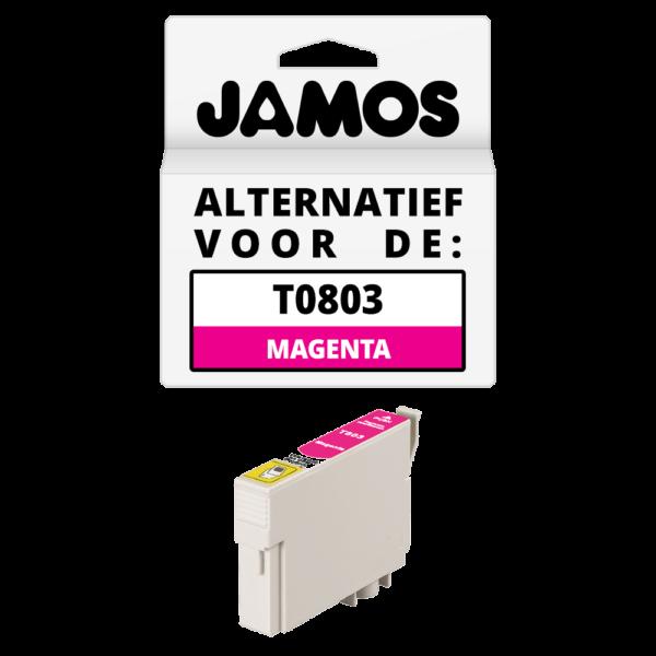 JAMOS Inktcartridge Alternatief voor de Epson T0803 Magenta