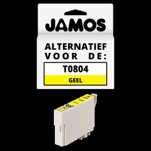 JAMOS Inktcartridge Alternatief voor de Epson T0804 Geel
