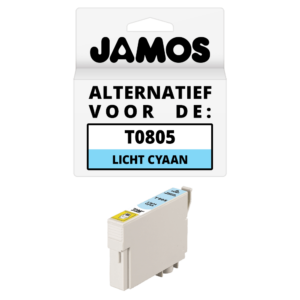 JAMOS Inktcartridge Alternatief voor de Epson T0805 Licht Cyaan