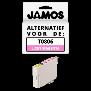 JAMOS Inktcartridge Alternatief voor de Epson T0806 Licht Magenta