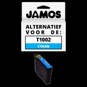 JAMOS Inktcartridge Alternatief voor de Epson T1002 Cyaan