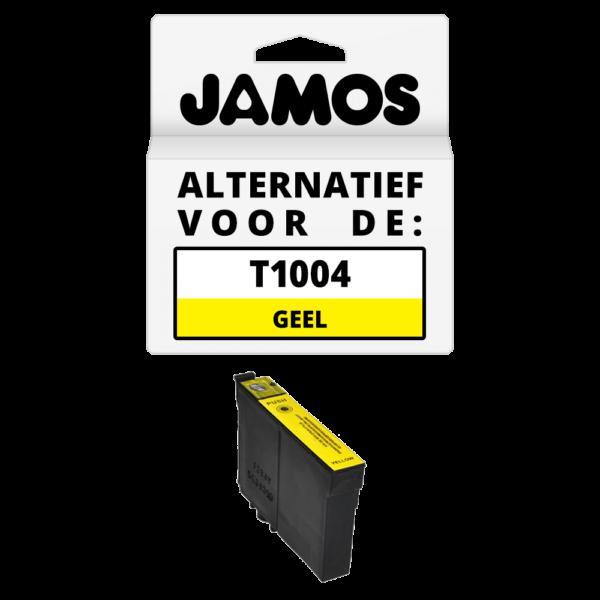 JAMOS Inktcartridge Alternatief voor de Epson T1004 Geel
