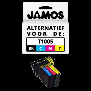 JAMOS Inktcartridge Alternatief voor de Epson T1005 Voordeelset