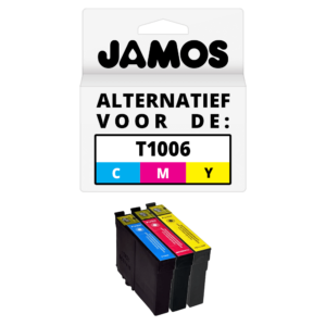 JAMOS Inktcartridge Alternatief voor de Epson T1006 CMY Kleuren Set