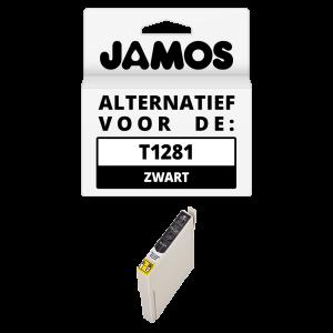 JAMOS Inktcartridge Alternatief voor de Epson T1281 Zwart