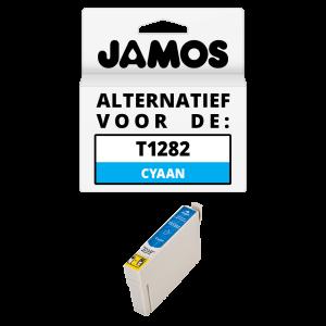 JAMOS Inktcartridge Alternatief voor de Epson T1282 Cyaan