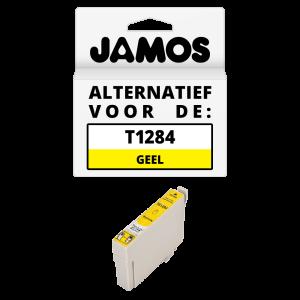 JAMOS Inktcartridge Alternatief voor de Epson T1284 Geel