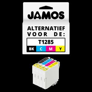 JAMOS Inktcartridge Alternatief voor de Epson T1285 Voordeelset