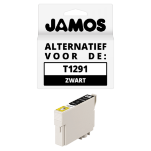 JAMOS Inktcartridge Alternatief voor de Epson T1291 Zwart