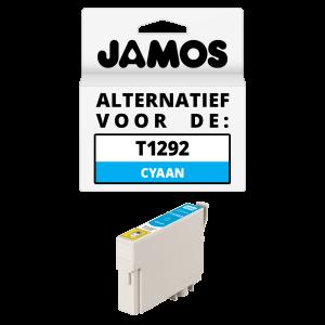 JAMOS Inktcartridge Alternatief voor de Epson T1292 Cyaan