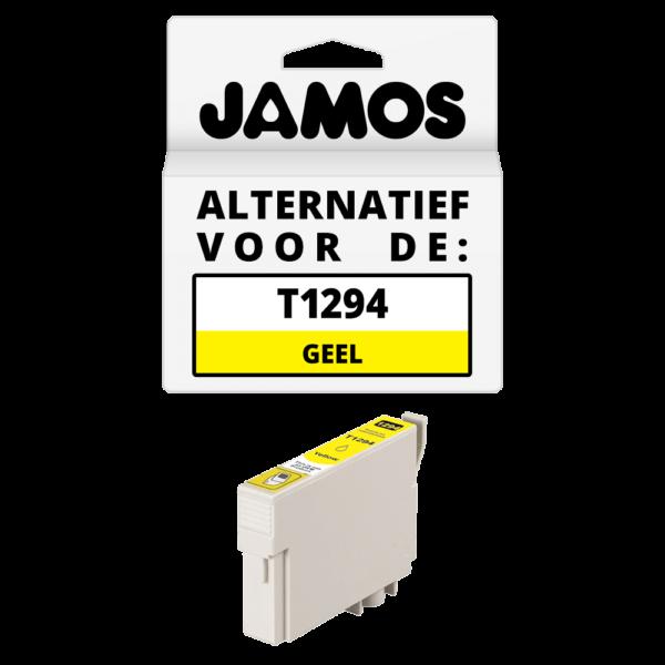 JAMOS Inktcartridge Alternatief voor de Epson T1294 Geel