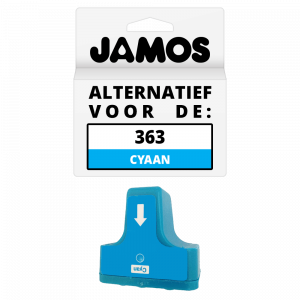 JAMOS Inktcartridge Alternatief voor de HP 363 Cyaan